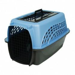 Petmate 2 Door Top Load Kennel 61cm (4,5-9kg) Blauw/Bruin