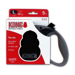 Kong Retractable Leash Terrain Black Large 5m (50 kg)