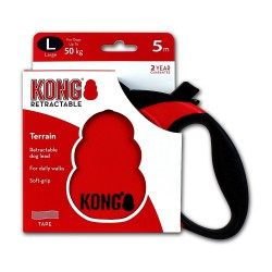 Kong Retractable Leash Terrain Red Large 5m (50 kg)