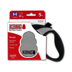 Kong Retractable Leash Terrain Grey Medium 5m (30 kg)