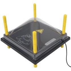 Afdekkap voor Warmteplaat 30x30cm, PET helder