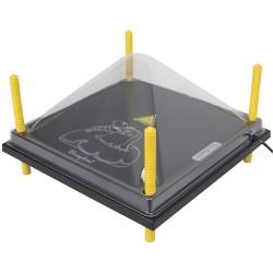 Afdekkap voor Warmteplaat 40x40cm, PET helder