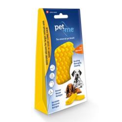 Pet+Me Dog short hair brush yellow