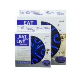 Eat Slow Live Longer Round small blauw