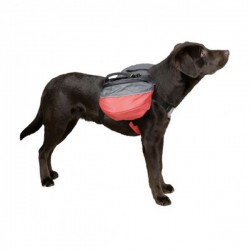 Rugzak voor hond L rood/antraciet