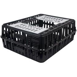 Transportkist voor pluimvee, zwart, groot, 1 deur, 85X66X30CM