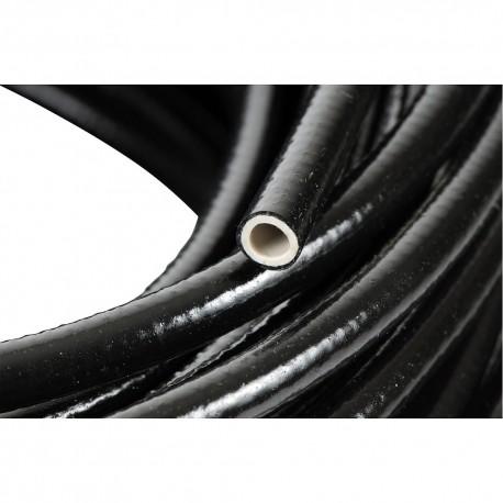PVC slang 6mm zacht PVC zwart, 6x10mm, rol 50 m, prijs per meter