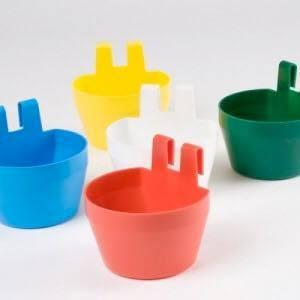 Eet Of Drinkbakje Ovaal Met Plastic Haken Het Voederhuisje