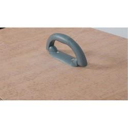 Handgreep voor deksel transportkist, plastic L18cm grijs