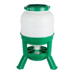 Voerhopper 30LTR., plastic, groen
