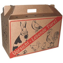 Transportkarton voor kippen, konijnen en duiven KLEIN