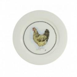 Boerenwinkel Ontbijtbord 21cm Hen
