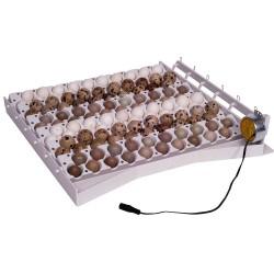 Aut.keersyst. voor 42 eieren + 6 extra trays voor kwarteleieren