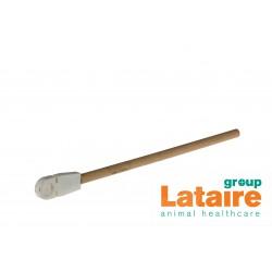 Zitstok in hout, met kunststof houdertje, 330 mm (Ø 12 cm)