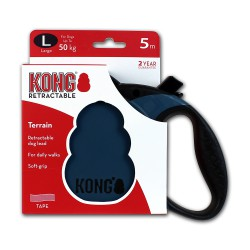 Kong Retractable Leash Terrain Blue Large 5m (50 kg)
