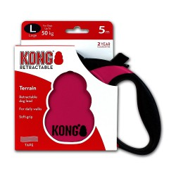 Kong Retractable Leash Terrain Pink Large 5m (50 kg)
