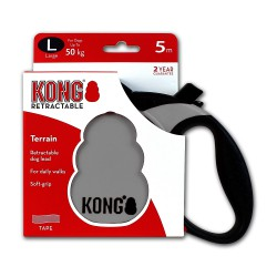 Kong Retractable Leash Terrain Grey Large 5m (50 kg)