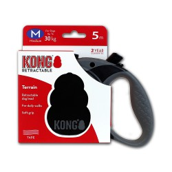 Kong Retractable Leash Terrain Black Medium 5m (30 kg)