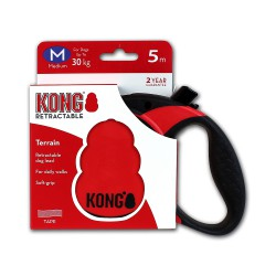 Kong Retractable Leash Terrain Red Medium 5m (30 kg)