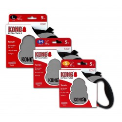 Kong Retractable Leash Terrain Grey Small 5m (20 kg)