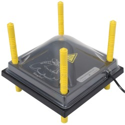 Afdekkap voor Warmteplaat 25x25cm, PET helder