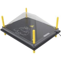 Afdekkap voor Warmteplaat 40x50cm, PET helder
