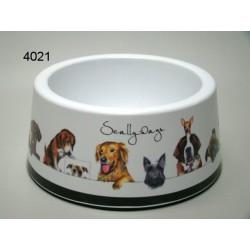 Honden voer- drinkbak Melamine 17,5 x 9cm