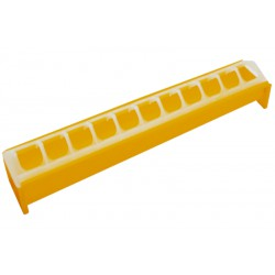 Kuikeneetbak geel plastiek 40cm Novital