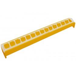 Kuikeneetbak geel plastiek 50cm Novital