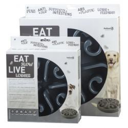 Eat Slow Live Longer Round large grijs