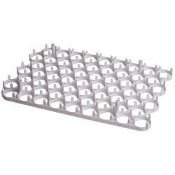 Eier tray for 63 kippeneieren afm. 400x260mm, max. eimaat 40mm