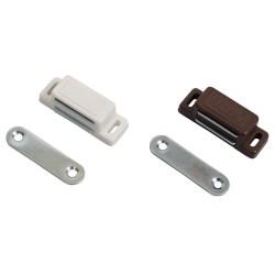 Magnetische deursluiting (set) bruin