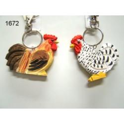 Hen in hout 6,5cm