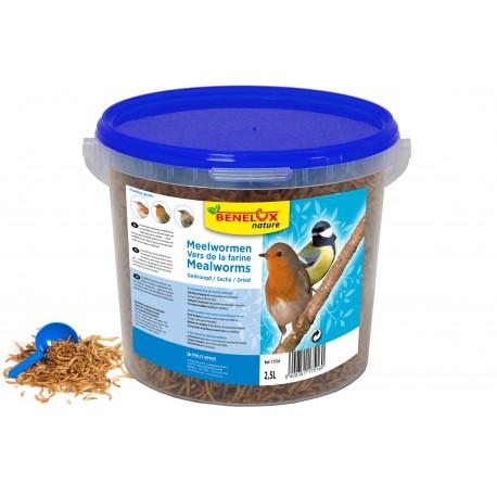 Meelwormen emmer 2,5L voor buitenvogels