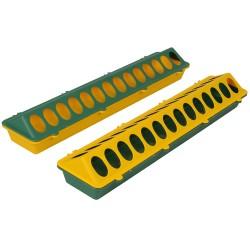 Kuikenvoerbak 50 cm kunststof, geel/groen