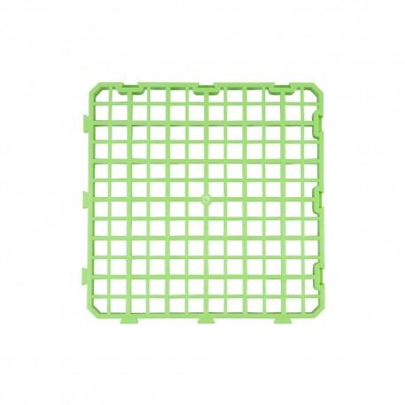 Plastic bodemroosters voor konijnen 25x25cm groen (PP)