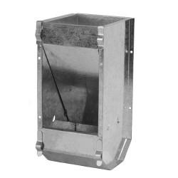 Konijnenvoerbak 1 vak verzinkt zware uitvoering zonder deksel