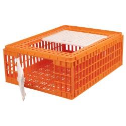 Transportkist voor pluimvee oranje (77x58x28cm), 2 deurtjes