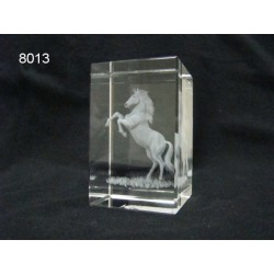 3D Glasblokje met paard