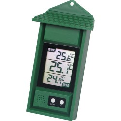 Thermometer minimum maximum, digitaal groen