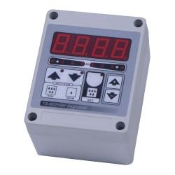 Digitale hygrostaat in kast met 16 Amp. relais uitgang