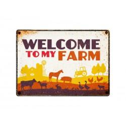 "Deco Bordje Metaal ""Welcome To My Farm"""