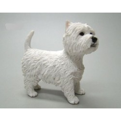 West Highland White terrier Leonardo beeldje