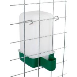 Drinkbak kooimodel, 1L groen incl. beugel