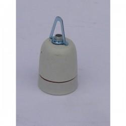 Keramische fitting E27 met ophangnippel