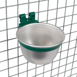Aluminium voer-/drinkbakje rond ø 100mm.