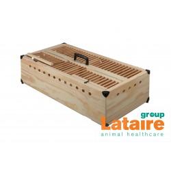 Opleermand in hout, met tussenschot 80x40x22cm