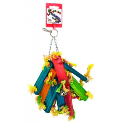 Birdeeez Parakeet Toy Wood bunch of 21cm