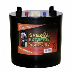 Batterij Koltec rond 7,5V / 90Ah (H18 cm x Diam. 11,5 cm)