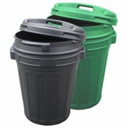 Voerton 70 liter Groen met draaisluiting